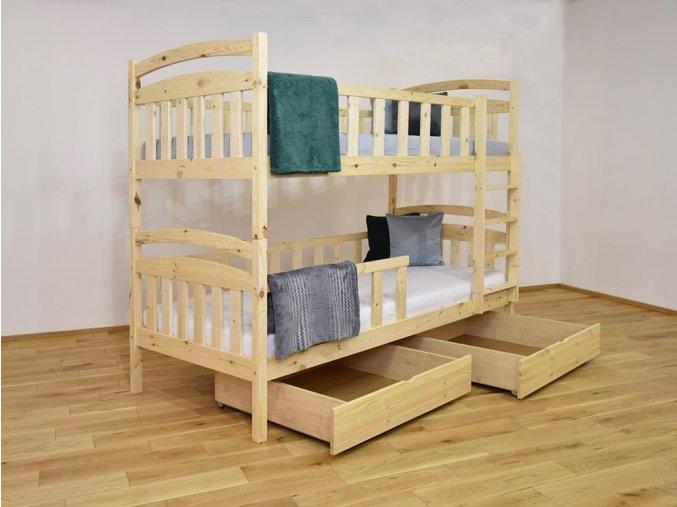 Poschodová posteľ Lp 007 180x80