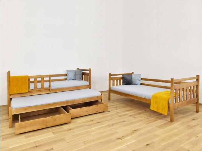 LPT 005 Poschodová posteľ s prístelkou 200x90