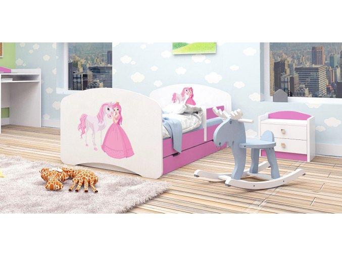 Posteľ Happy Pink 140x70 až 89 motívov
