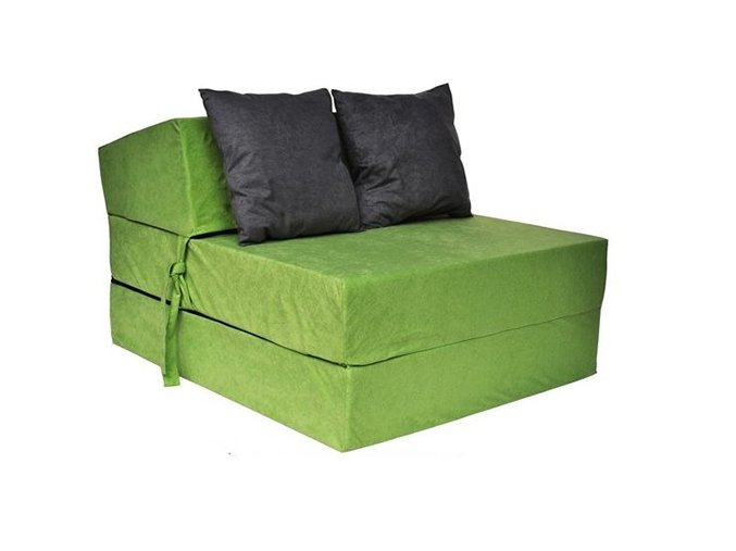 rozkladacie kreslo zelené
