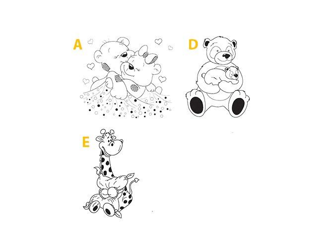 Postieľka pre bábätko Miki Medvedíci Dub sonoma