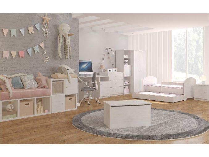 Detská posteľ Oskar X 140x70 nórska borovica