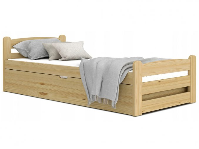 Dávid2 200x90 Borovica vyklápacia posteľ bez matraca