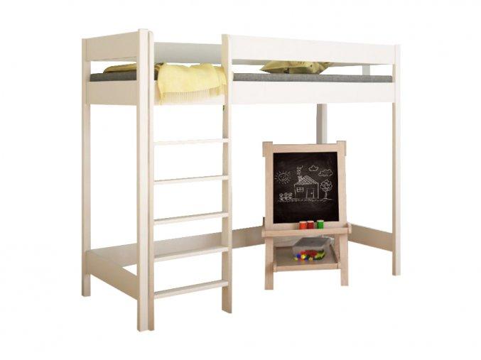 Biela vyvýšená posteľ Hugo Pred 160x80