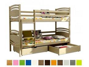 Poschodová posteľ Lp 001 180x80