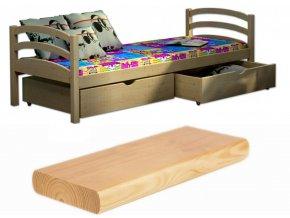 Detská posteľ so zábranou Lpo 006 200x90 s úl. priestorom