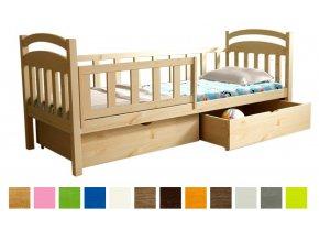Detská posteľ so zábranou Lpo 014 200x90 s úl. priestorom