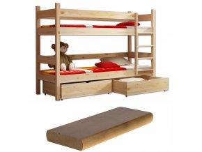 Poschodová posteľ LP 002 180x80