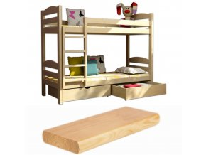 Poschodová posteľ LP 004 180x80