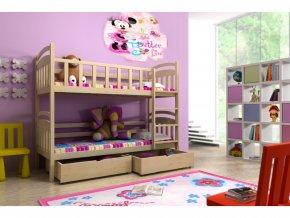Poschodová posteľ Lp 005 180x80