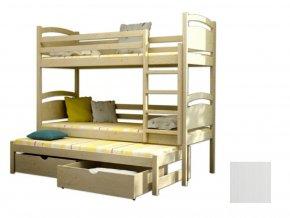 LPT 002 180x80 Poschodová posteľ s prístelkou