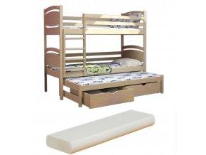 LPT 003 180x80 Poschodová posteľ s prístelkou