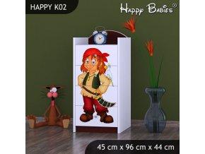 Komoda Happy Gaštan K02