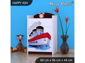 Komoda Happy Gaštan K04