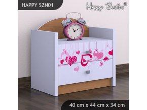 Nočný stolík Happy Buk SZNO 01 všetky motívy