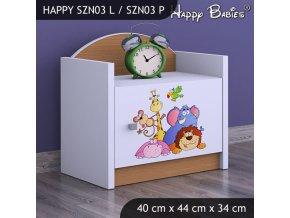 Nočný stolík Happy Buk SZNO 03 všetky motívy