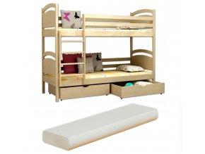 Poschodová posteľ Lp 006 180x80