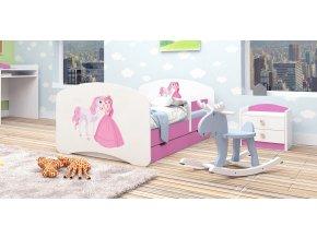 Posteľ Happy Pink 160x80 až 89 motívov