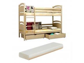 Poschodová posteľ Lp 006 200x90