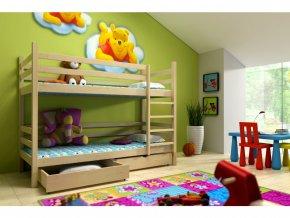 Poschodová posteľ Lp 008 180x80