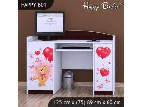 Písací stôl Happy Gaštan B01