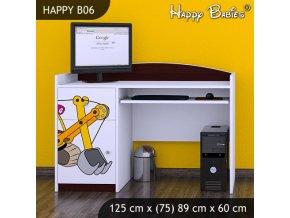 Písací stôl Happy Gaštan B06