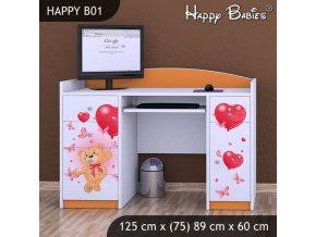 Písací stôl Happy Orange B01