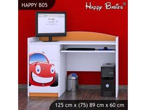 Písací stôl Happy Orange B05