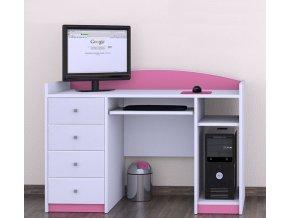 Písací stôl Happy Pink B02