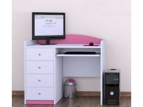 Pink Happy detský počítačový stôl B08