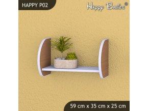 Polička Happy Buk P02