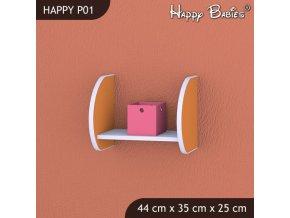 Polička Happy Orange P01