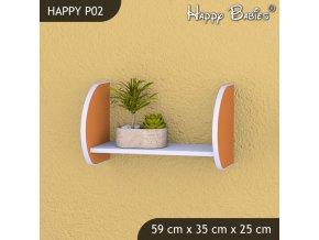 Polička Happy Orange P02