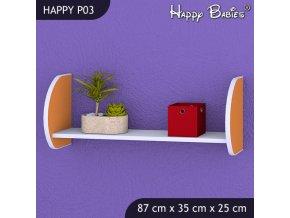 Polička Happy Orange P03