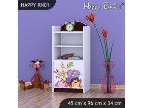 Regál Happy Gaštan RN01