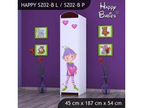 Skriňa Happy Gaštan SZ02-B