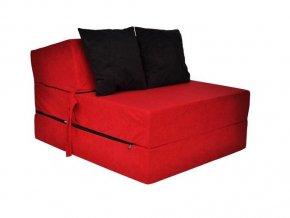 Fotel rozkladací červený