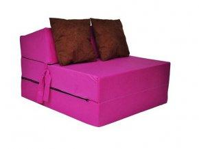 Fotel rozkladací ružový