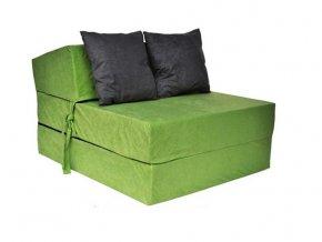 Fotel rozkladací zelený