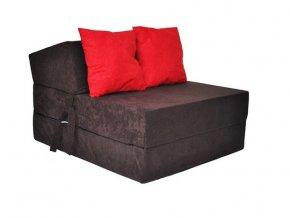 Fotel rozkladací tmavohnedý