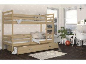 Jacek 190x80 Borovica poschodová posteľ