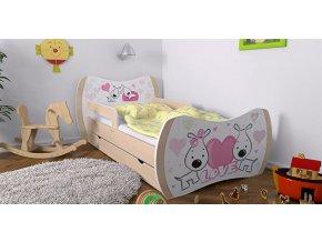 Detska postel DREAM hruška 140x70 bez uložneho priestoru