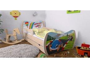 Detské postele Dream hruška 180x90 bez úložného boxu