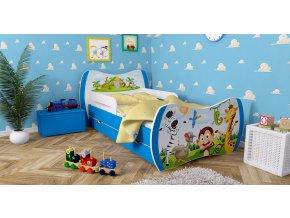 Detské postele DREAM modré 140x70 bez úložného priestoru