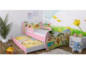 Detské postele Dream ružové 160x80 bez úložného boxu