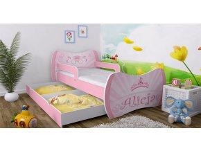 Detská posteľ Dream bez úložného priestoru 180x90 ružová