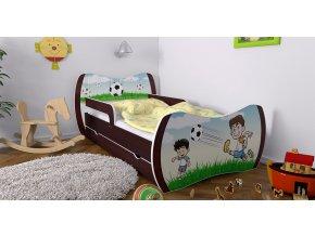 Detská posteľ Dream wenge 160x80 bez úložného priestoru