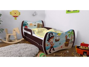 Skvelá detská posteľ Dream 180x90 wenge bez úložného boxu