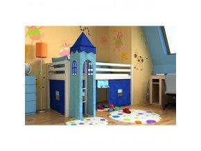 Vyvýšené postele Gabika s vežou Biela