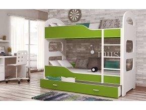 Poschodová posteľ Patrik 160x80 Zelená